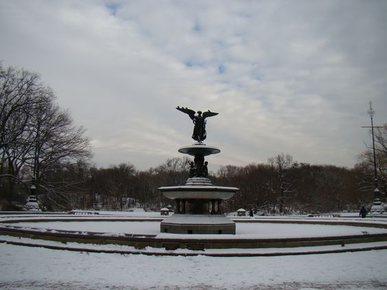 Photo by @luribeirobr #nyc #centralpark #nycwinter #bethesdafountain