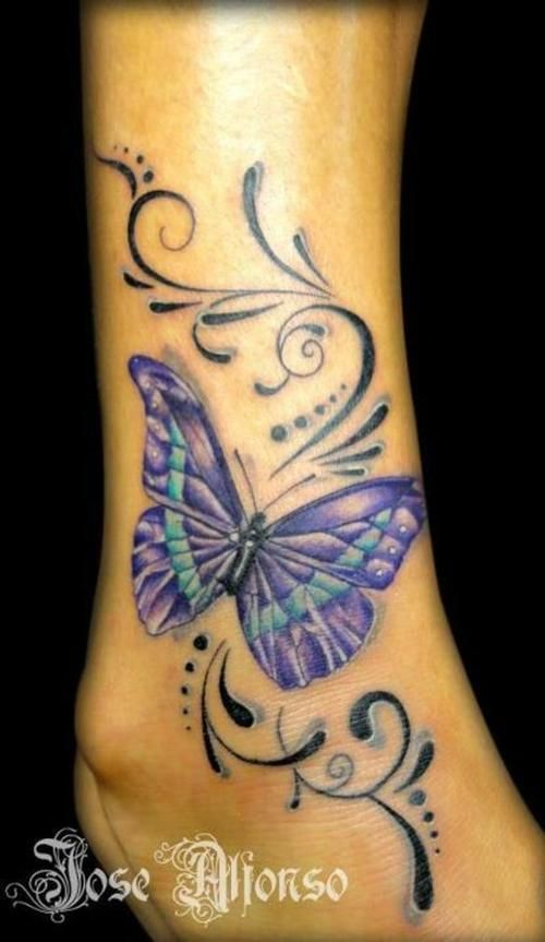 Butterfly tattoo picture at chrissy for Butterfly memorial tattoos