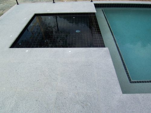 Difference Between Marciting Ledge Or Completely Tiling It | Pools |  Pinterest | Granite, Granite Stone And Pool Pavers