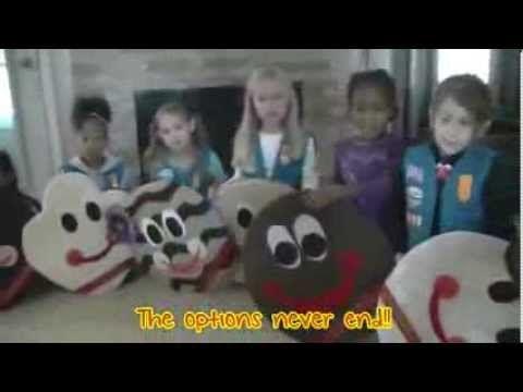 ▶ Girl Scout Daisy Troop 7405 Cookie Rap - YouTube. #CookieBuzz #GirlScoutCookies