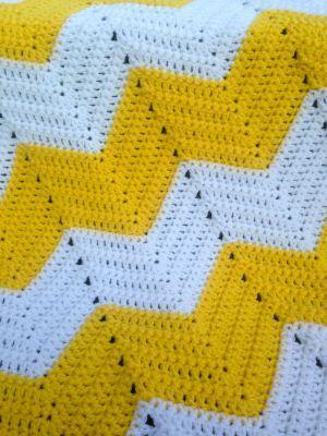 Chevron Baby Blanket Free Crochet Pattern | Patrones cheurón de ...