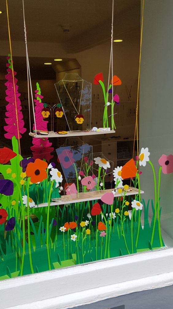 Our Summer Meadow Window Display…