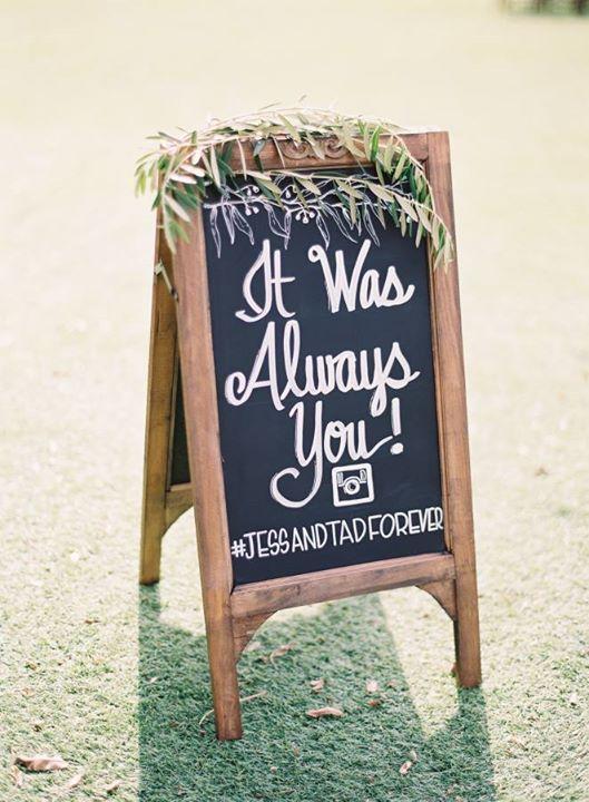 ป้าย งานแต่งงาน น่ารักๆ 14 ป้าย ช่วยเติมความเก๋ไก๋ให้กับ งานแต่งงาน Adorable wedding sign
