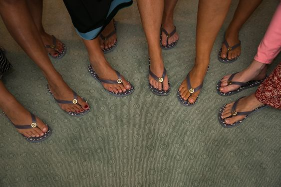 Bridal Party Purple Tory Burch Flip Flops