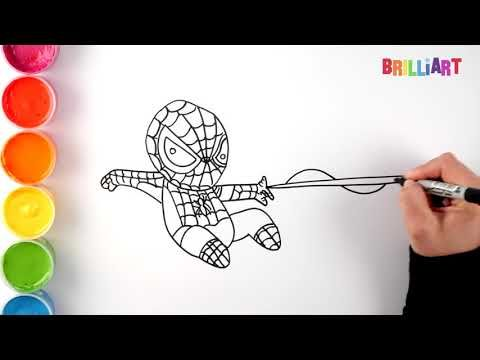 How To Draw Spiderman Coloring And Drawing For Kids Toddlers Youtube Spiderman Drawing Spiderman Coloring Drawing For Kids