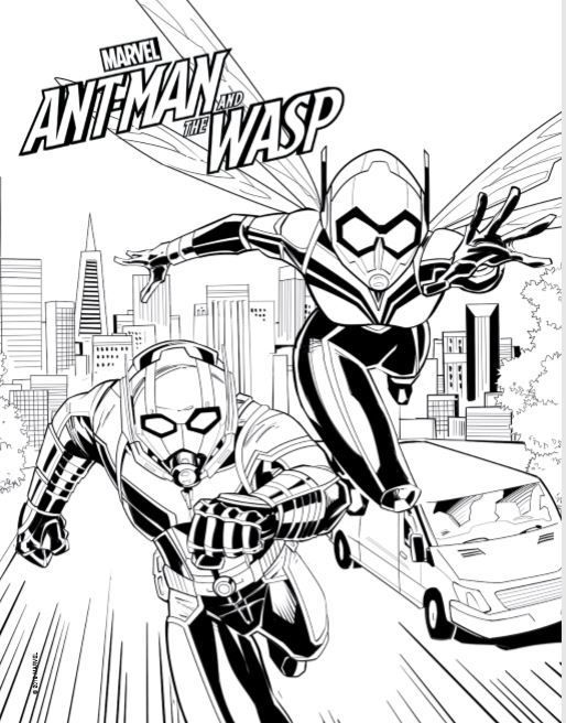 Ant Man And The Wasp Coloring Page In 2020 Coloring Pages Avengers Coloring Pages Coloring Pages For Kids