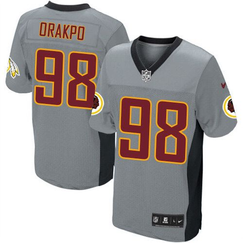 ... NFL Mens Elite Nike Washington Redskins 98 Brian Orakpo Grey Shadow  Jersey 129.99 ... 9172df806