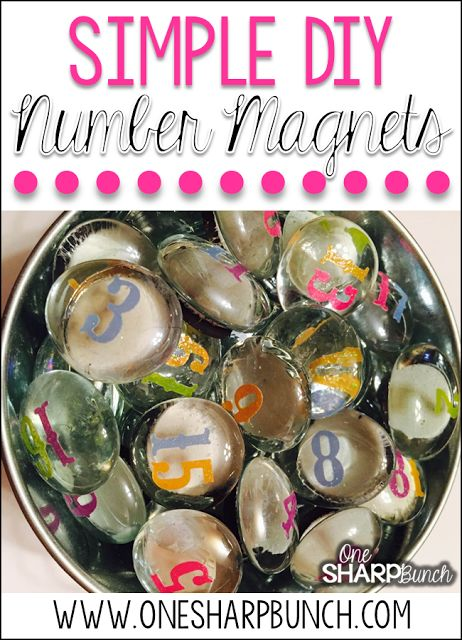 DIY Number Magnets - This simple DIY classroom project is perfect for your calendar and morning meeting area!  Have your students use them to mark attendance or lunch count.  Plus, you'll definitely want to see how we use these number rocks for classroom management!:
