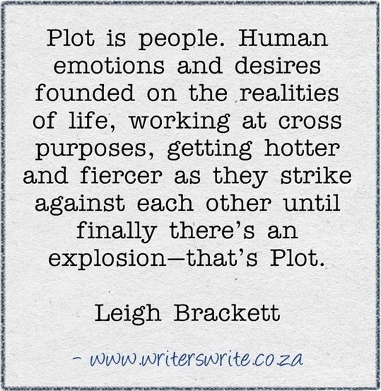 Plot is people.