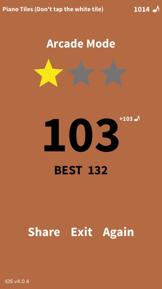Arcade Mode 103 Pts Who Can Beat Me In Pianotiles Http