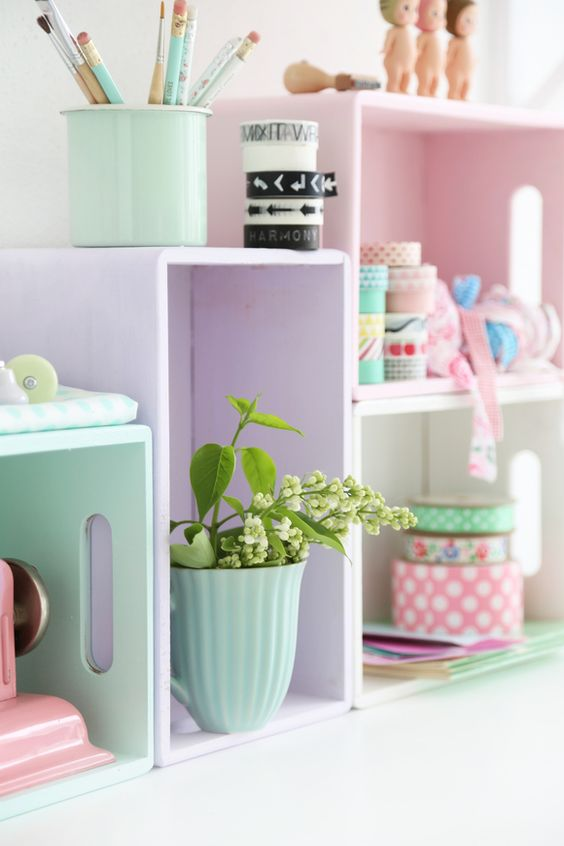 Pastellige Küchenregale schnell selber machen   woont - love your home