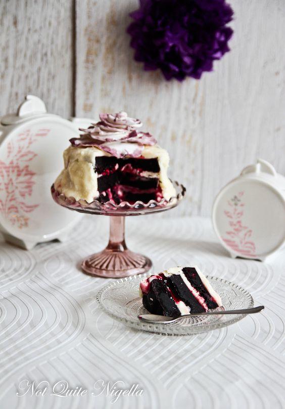 Boysenberry Cake from Not Quite Nigella blog