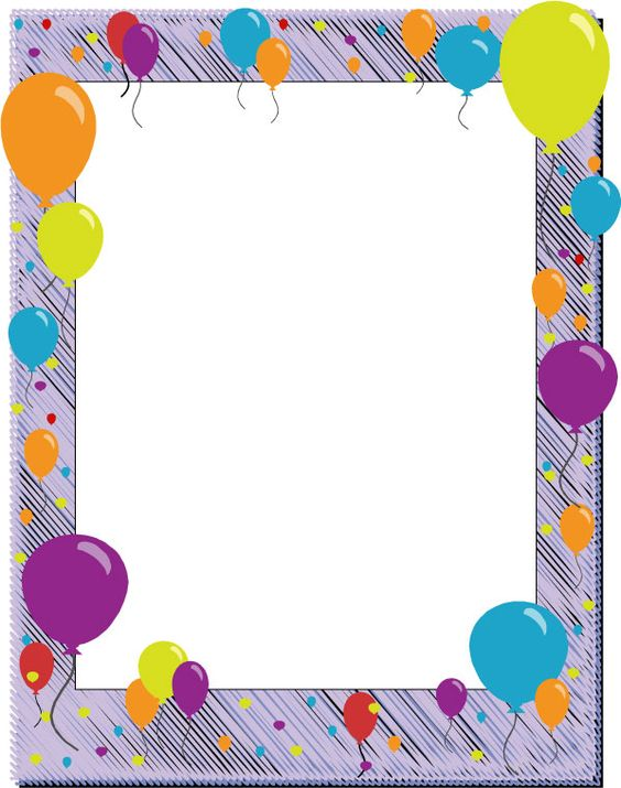 ... for word documents | birthday page borders - free birthday borders