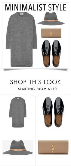 """""""Minimalistic dream."""" by pixiesnshit ❤ liked on Polyvore featuring Acne Studios, FitFlop, rag & bone, Yves Saint Laurent, grey, minimalism, contestentry and sweaterdress"""
