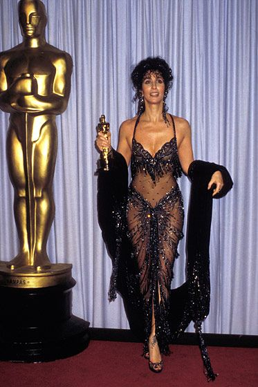 I'm willing to bet that no one will look this interesting at the Oscars this year. Stylists are SO boring.