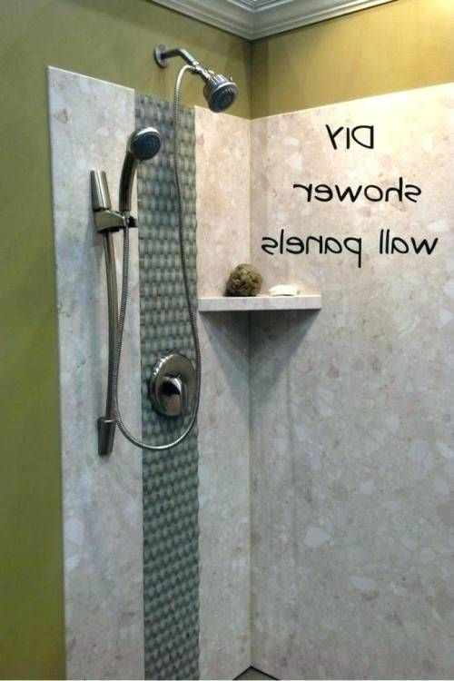 Inexpensive Bathroom Shower Wall Ideas With Images Bathroom Shower Walls Shower Wall Modern Shower