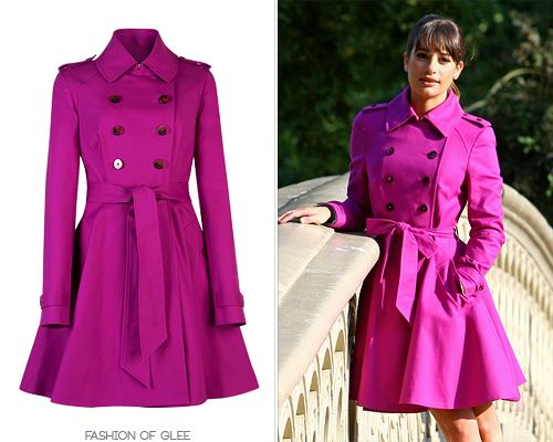 Many of you will not be happy to hear that Rachel's beautiful purple has sold out - on the bright side, it is still available in ivory! Ted Baker 'Moriah' Double-Breasted Coat - £160.00 (ivory, on sale!) Worn with: Maje sweater, Herve Leger skirt, Agent 18 iPhone case, Tommy Hilfiger pumps How about these other purple and pink pretties?: