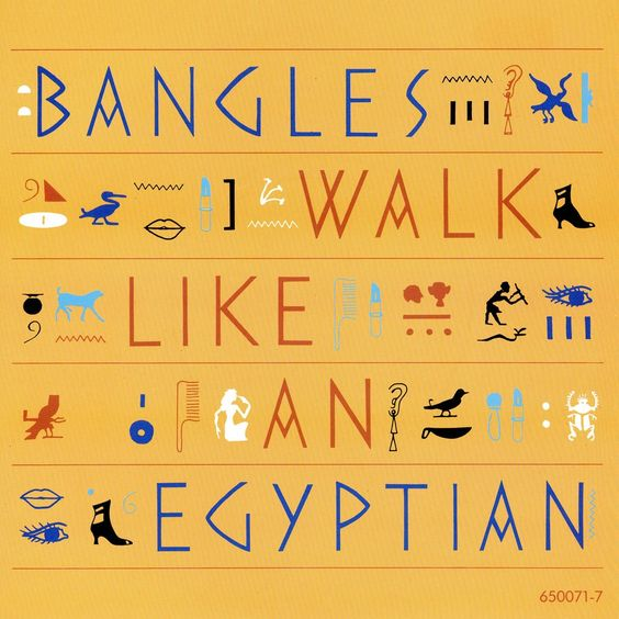 Bangles – Walk Like an Egyptian (single cover art)