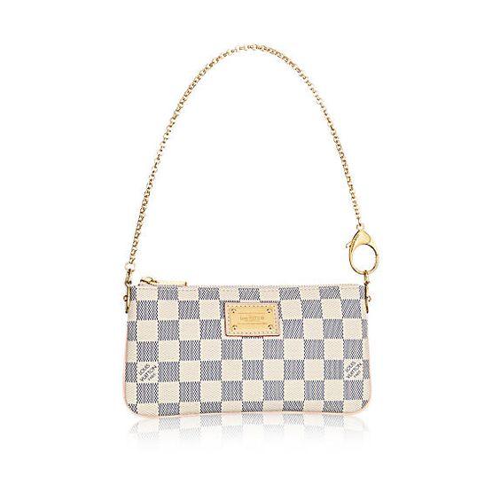 LOUISVUITTON.COM - Louis Vuitton Pochette Milla MM (LG) DAMIER AZUR Handtaschen