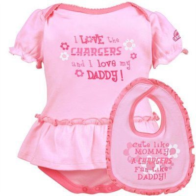 Gerber San Diego Chargers Infant Pink Just Like Daddy 2-Piece Set ...