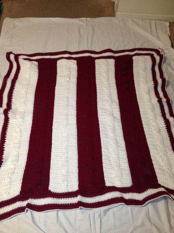 Crocheted Alabama afghan/ throw Crochet- blanket, throw ...