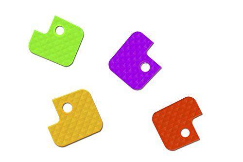 Wedo 262807099 Schl�sselkappen (aus flexiblem Kunststoff, eckig) 100 St�ck, farbig sortiert