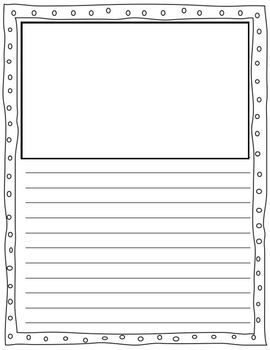 Writing page for kids
