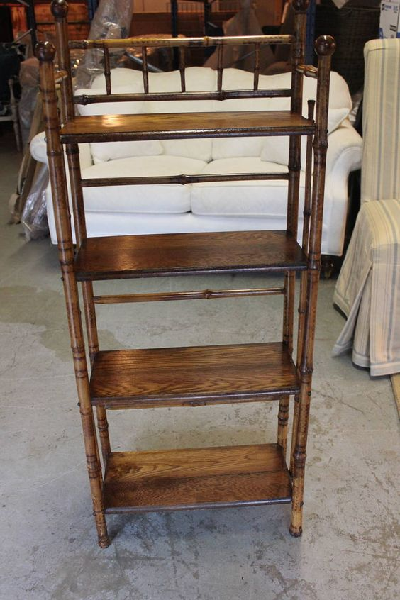 Bamboo Etagere | From a unique collection of antique and modern shelves at https://www.1stdibs.com/furniture/storage-case-pieces/shelves/