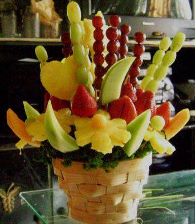 Make your own edible fruit arrangement!