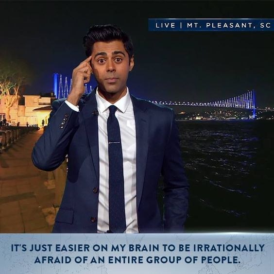 Hasan Minhaj takes a stand against white conservative extremists.