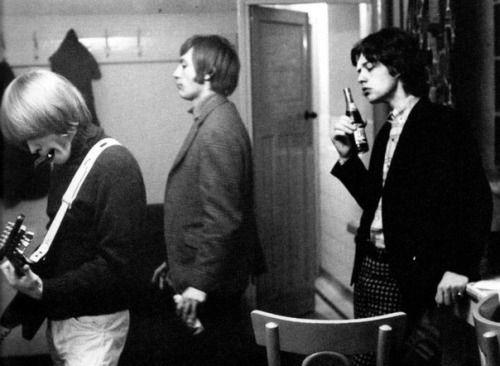 Brian Jones, Charlie Watts, and Mick Jagger