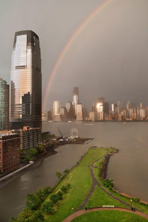 New York City Harbor/Rainbow View!