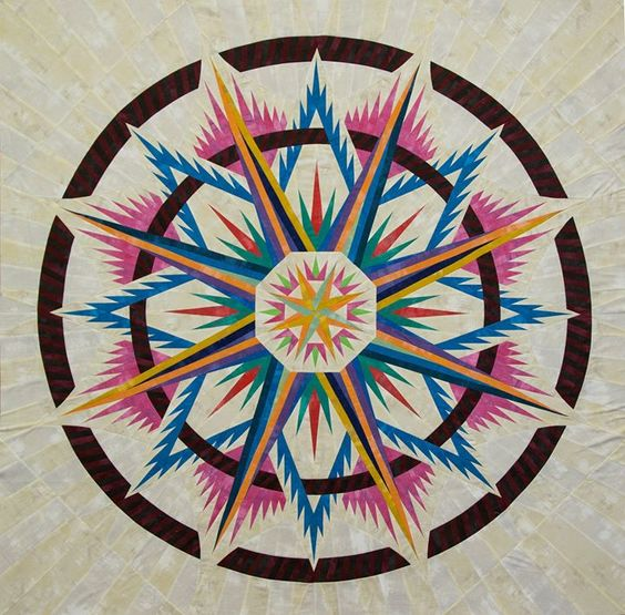Mariner's Compass ~ Quiltworx.com, by CI Carol Thelen
