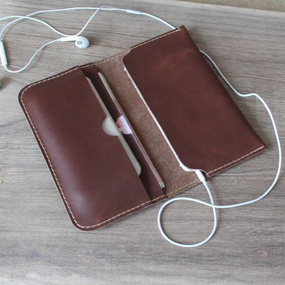 leather wallets Handmade coffee leather iphone wallet case,iphone 6 iphone 6 plus leather wallets ,iPhone 5 5s: