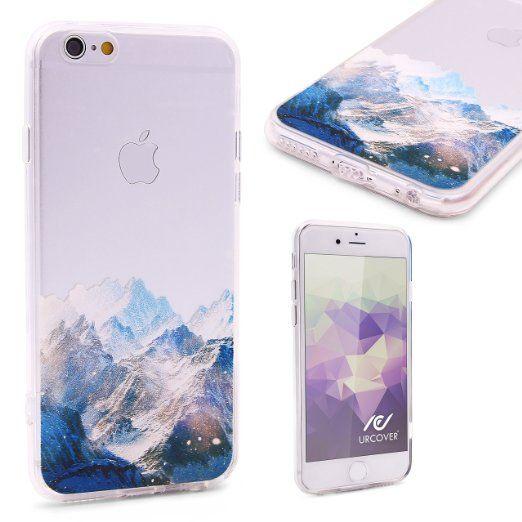 Urcover® Semi Softcase Hülle   Apple iPhone 6 / 6s   TPU Muster Berge   Kamera-Schutz   Handyhülle   Cover Backcase Handyschutz 7,90€