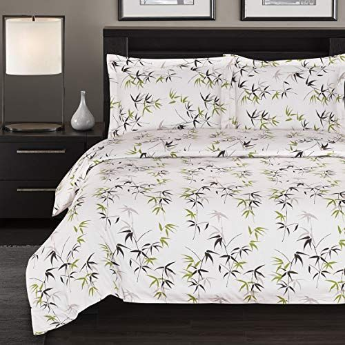 Luxury 300 Thread Count Full Queen Sized Bamboo Tree Printed Duvet Set Tropical Printed 100 Pure Cotto Duvet Cover Sets Duvet Sets California King Sheet Sets