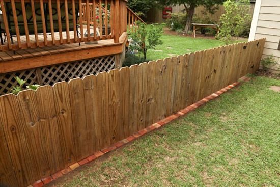 How To Add A Brick Border Under A Fence In 2020 Brick Border Brick Fence Brick Paver Patio