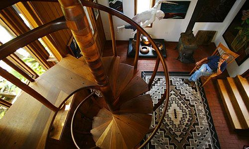 The Sam Maloof staircase...and Sam