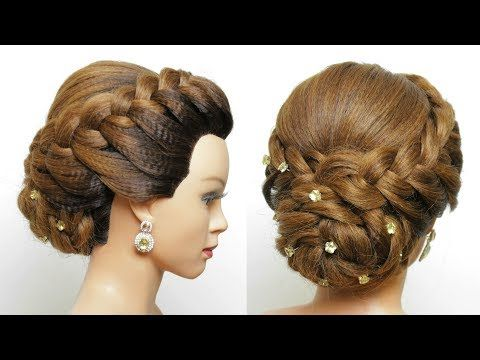 Bridal Hairstyle For Long Hair Wedding Updo Tutorial Youtube Easy Braided Updo Wedding Updo Tutorial Cute Hairstyles Updos