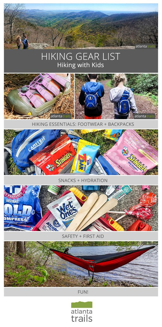 Hiking gear list: what to pack when hiking with kids