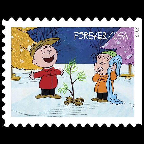 Charlie Brown Christmas Stamp - 2015