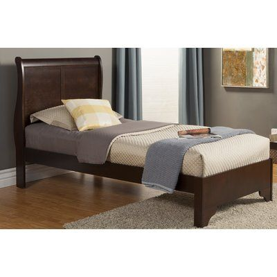 Three Posts Ferrero Twin Sleigh Bed In 2020 Loft Bed Frame Wood