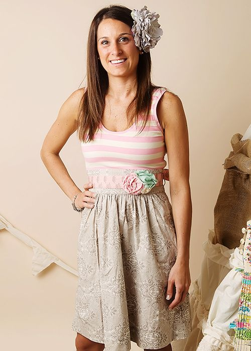 Mustard Pie Adelaide Pink and Grey Dress for Women