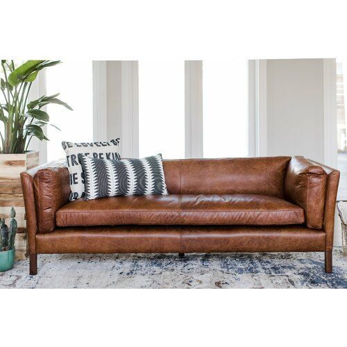 Chappell Leather Sofa Modern Leather Sofa Top Grain Leather