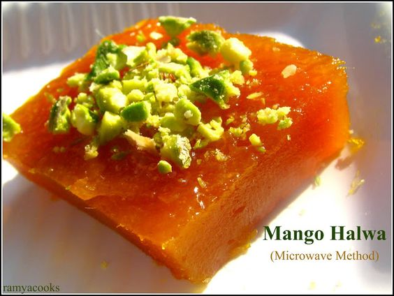 ramya cooks: Microwave Mango Halwa