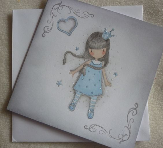 my handmade gorjuss card for relative.x