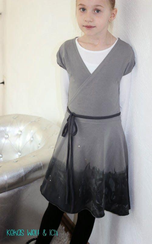 tolles Wickelkleid aus Sweat-Stoff! Schnitt von Ki-ba-doo.eu