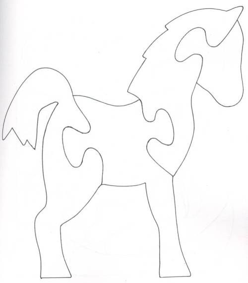 Horse / Pony scroll saw puzzle: