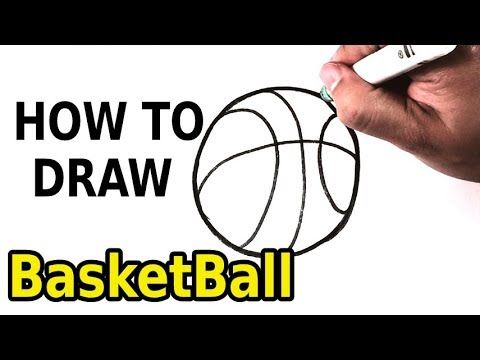 How To Draw Basketball Drawing Step By Step For Beginners And Kids Ho Step By Step Drawing Ball Drawing Easy Pictures To Draw