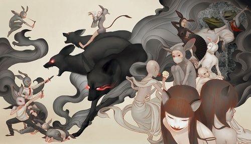 """Matsuri"" by Xiuyuan Zhang on INPRNT inprnt.com:"